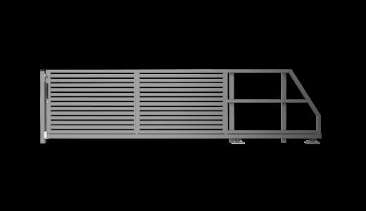 Brama przesuwna 1500/3000 mm MODEL OP2|P63|BS PRAWA
