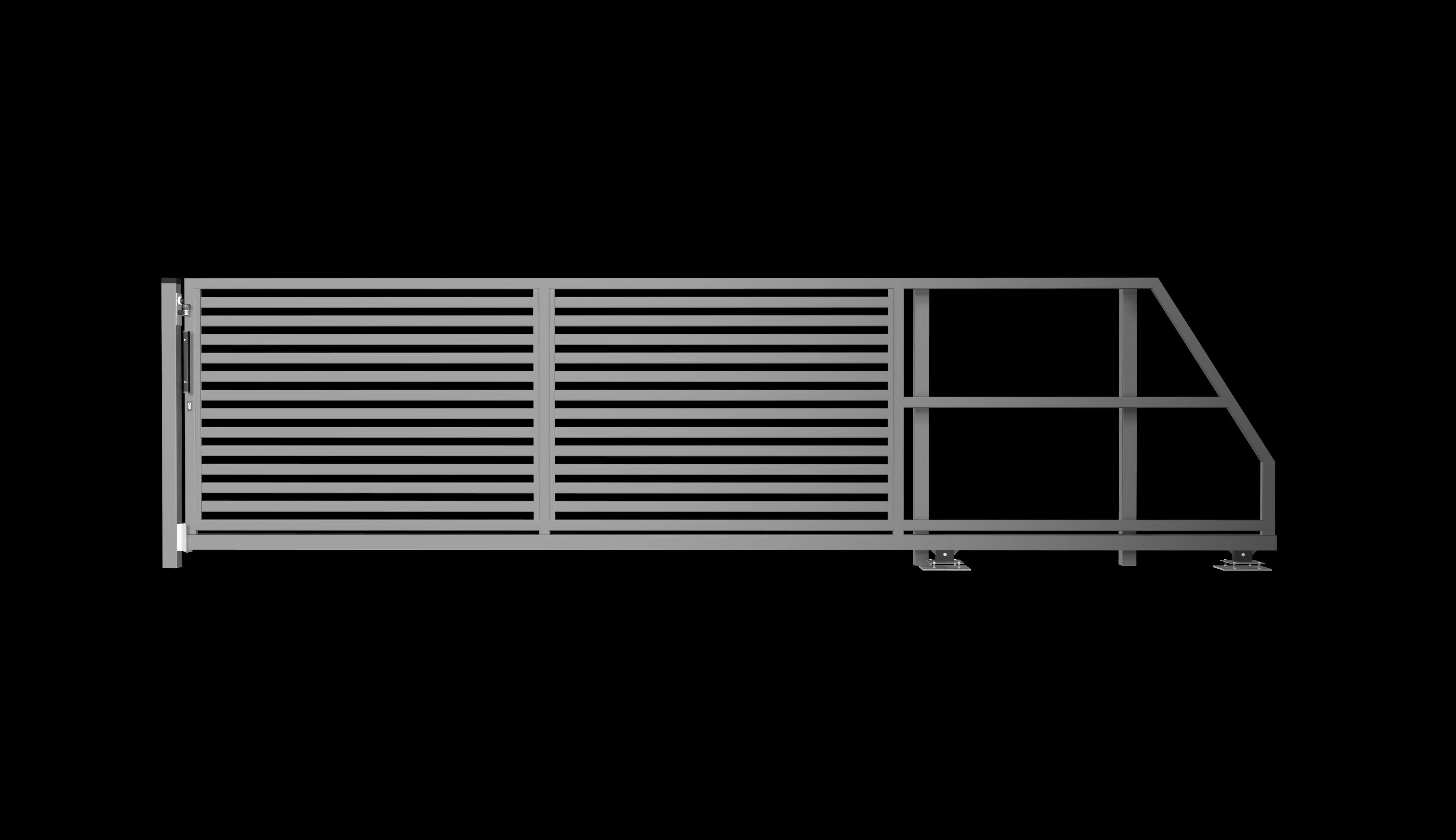 brama suwana prawa palisada pozioma P64